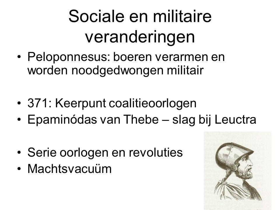 Sociale en militaire veranderingen