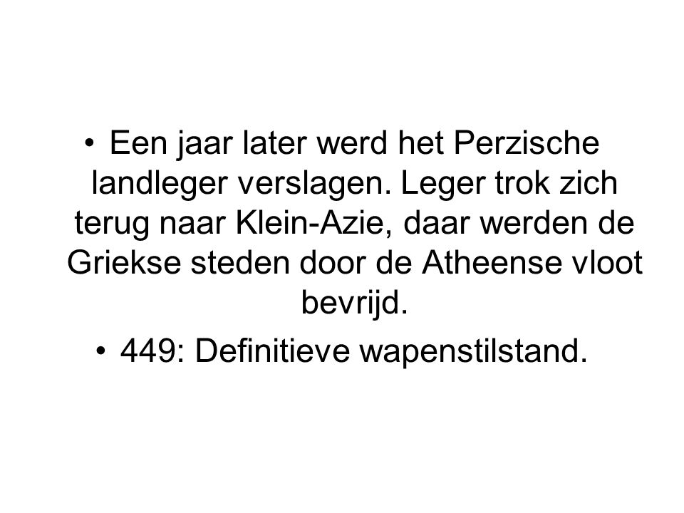 449: Definitieve wapenstilstand.