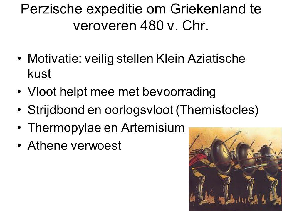 Perzische expeditie om Griekenland te veroveren 480 v. Chr.
