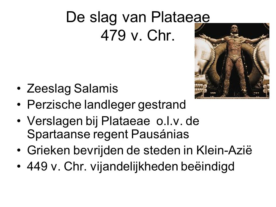 De slag van Plataeae 479 v. Chr.