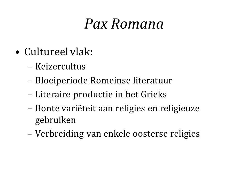Pax Romana Cultureel vlak: Keizercultus