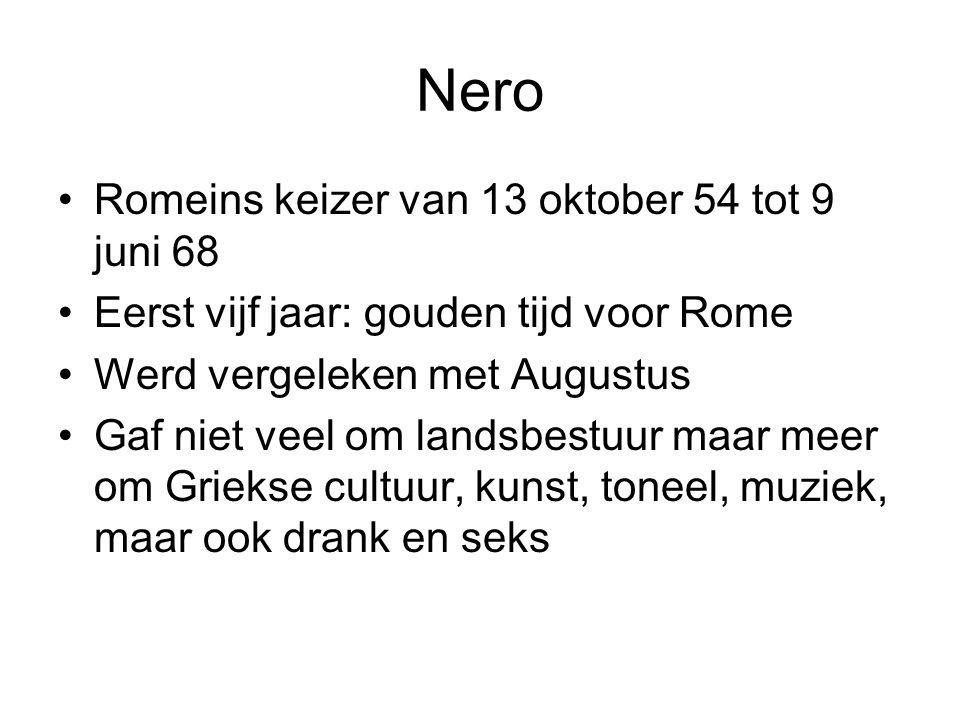 Nero Romeins keizer van 13 oktober 54 tot 9 juni 68