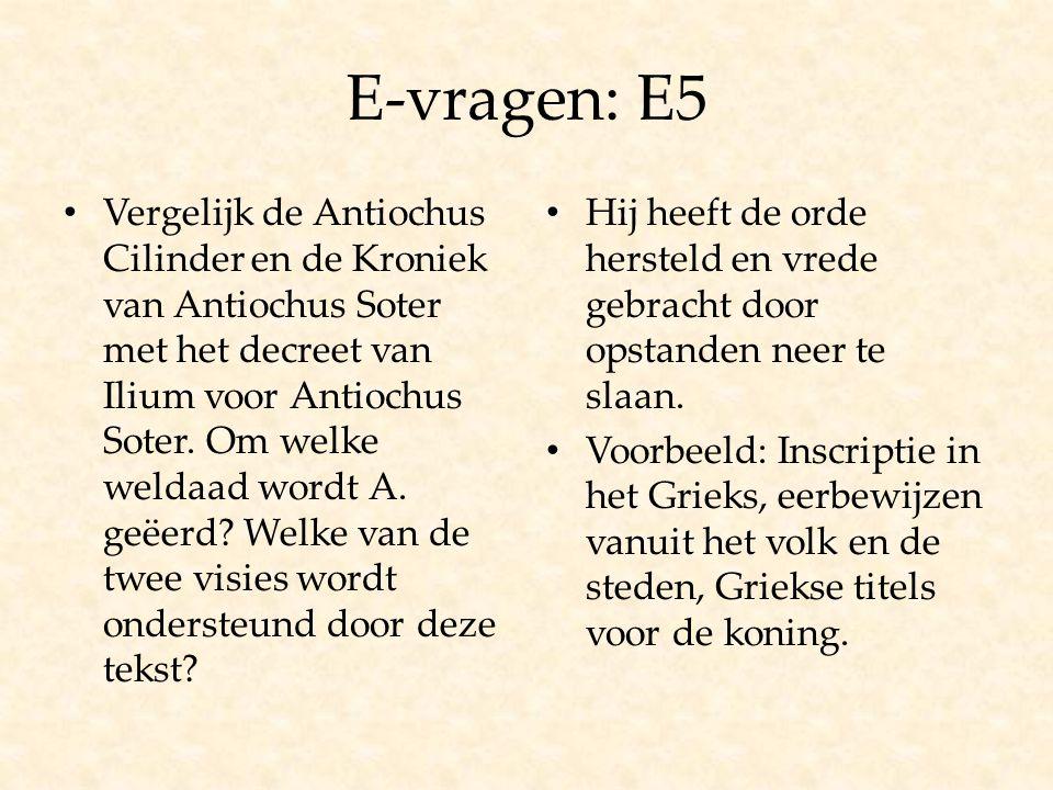 E-vragen: E5