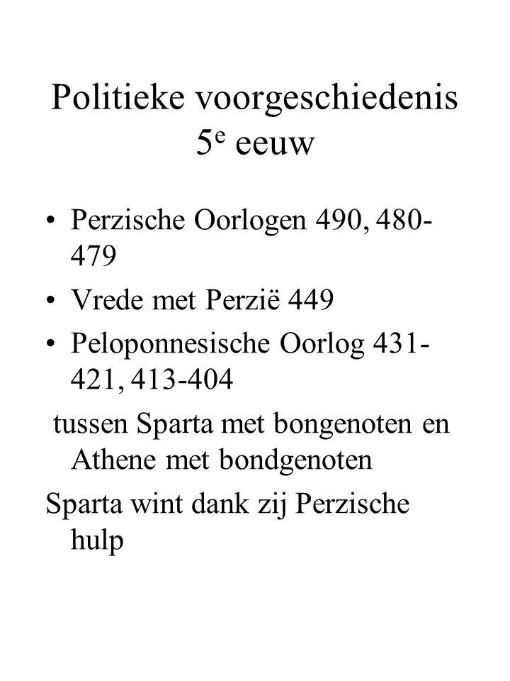 Politieke voorgeschiedenis 5e eeuw