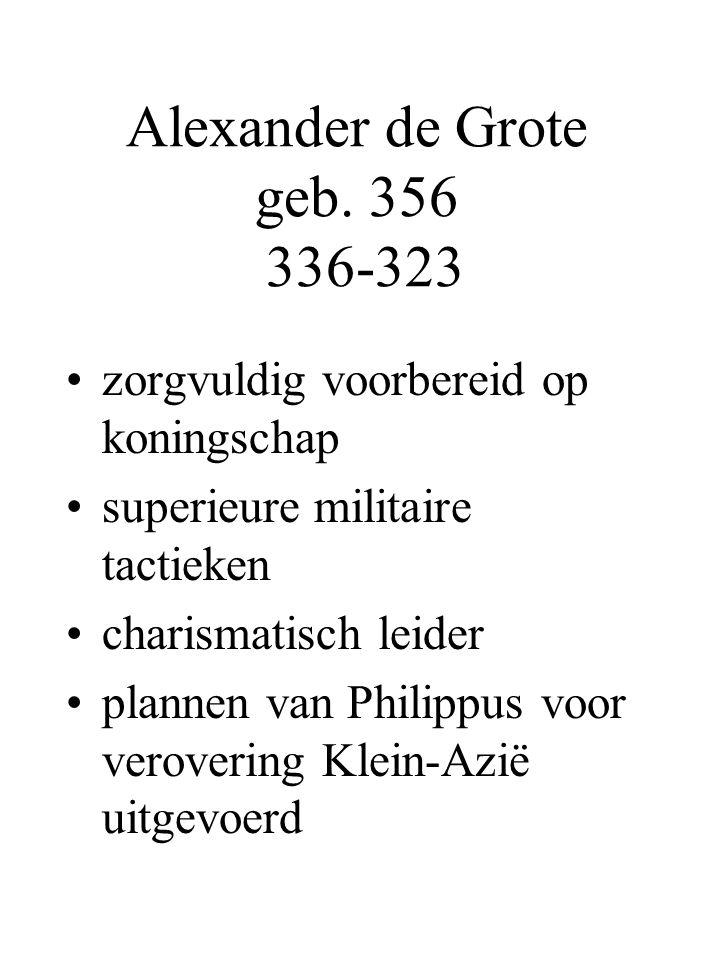 Alexander de Grote geb. 356 336-323