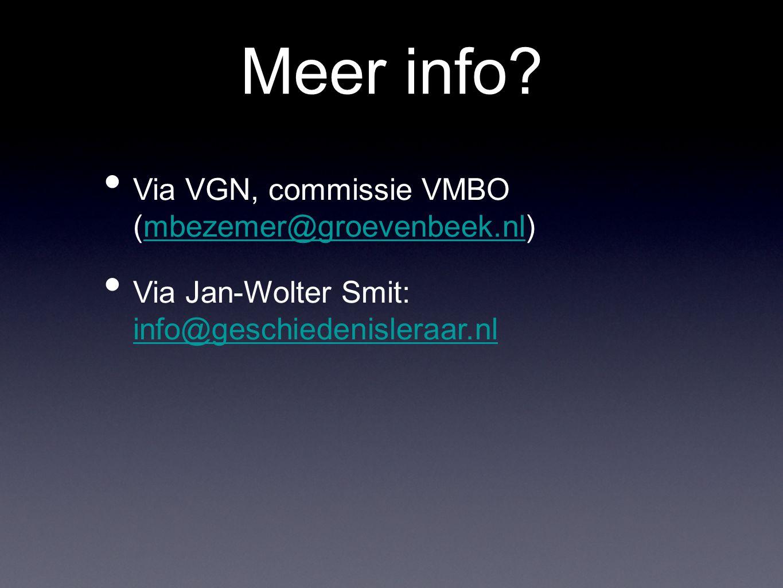 Meer info Via VGN, commissie VMBO (mbezemer@groevenbeek.nl)