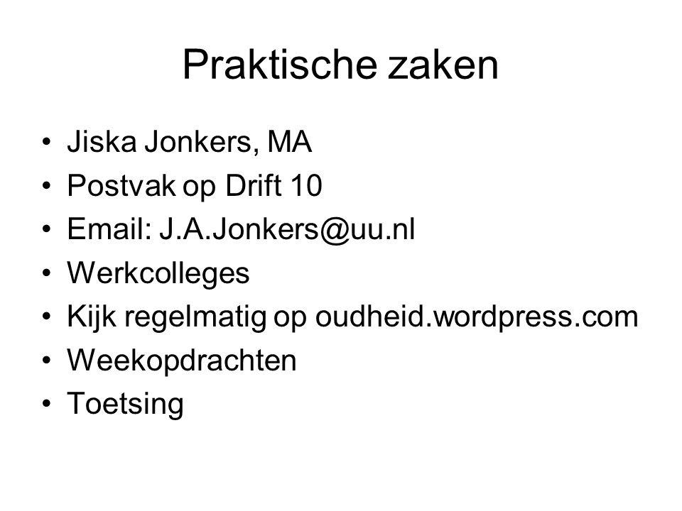 Praktische zaken Jiska Jonkers, MA Postvak op Drift 10