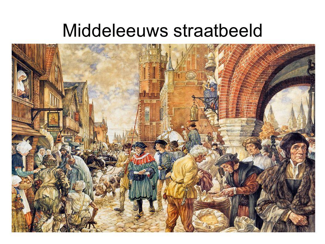 Middeleeuws straatbeeld