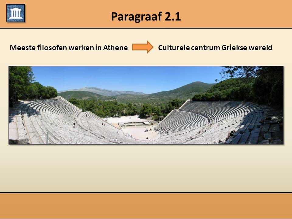 Paragraaf 2.1 Meeste filosofen werken in Athene