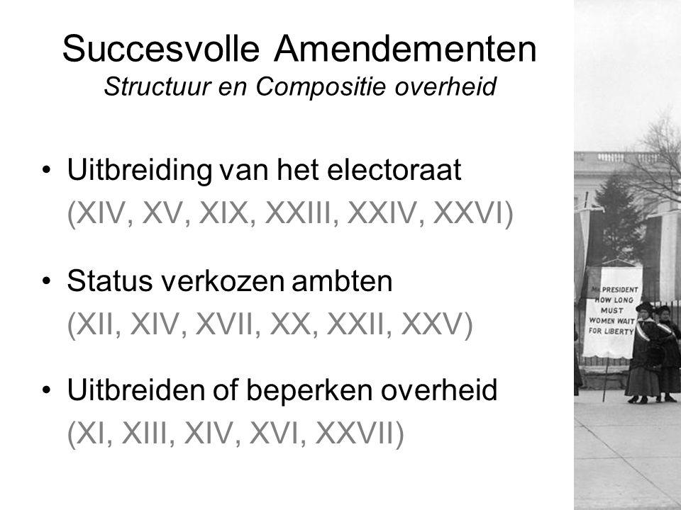 Succesvolle Amendementen Structuur en Compositie overheid