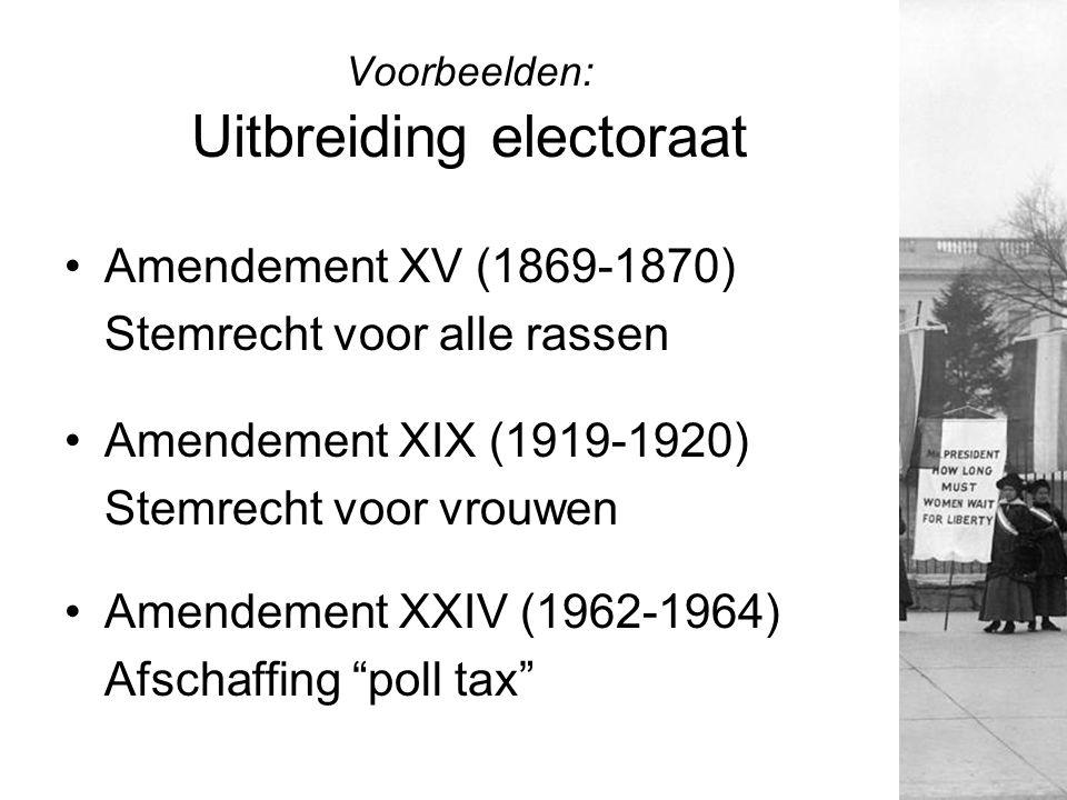 Voorbeelden: Uitbreiding electoraat