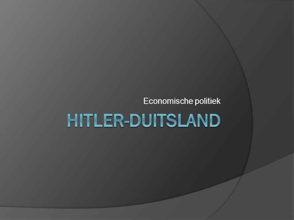 Economische politiek Hitler-duitsland