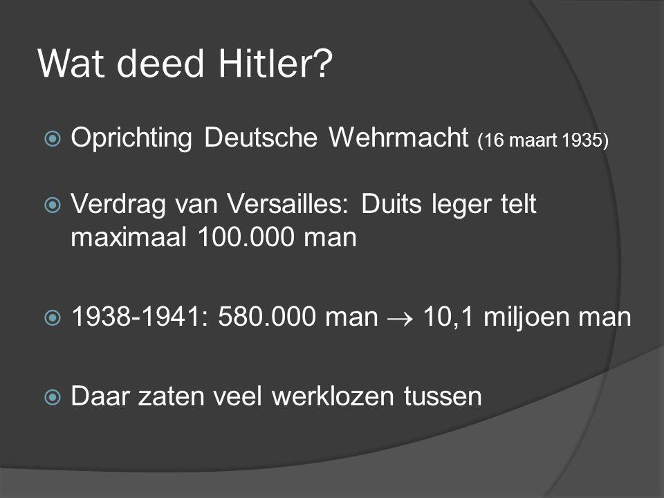 Wat deed Hitler Oprichting Deutsche Wehrmacht (16 maart 1935)