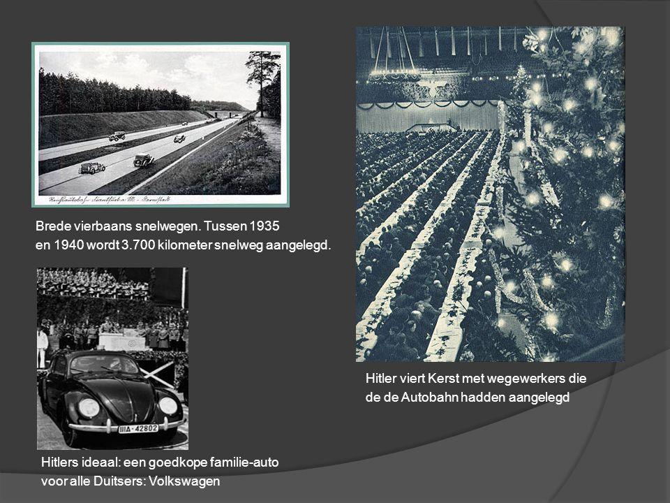 Brede vierbaans snelwegen. Tussen 1935
