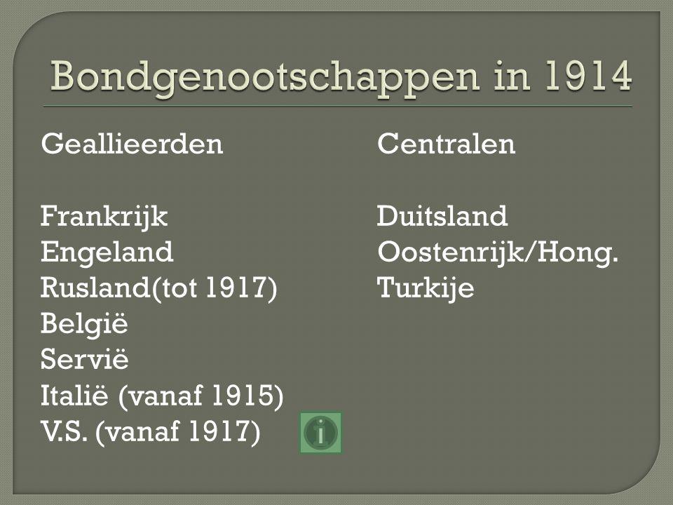 Bondgenootschappen in 1914