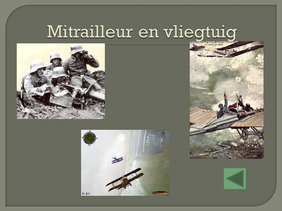 Mitrailleur en vliegtuig