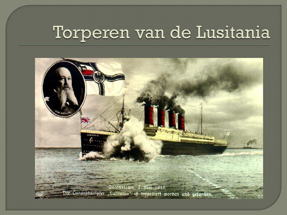 Torperen van de Lusitania