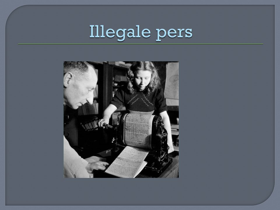 Illegale pers
