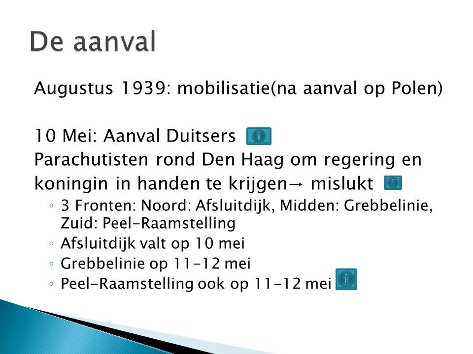 De aanval Augustus 1939: mobilisatie(na aanval op Polen)