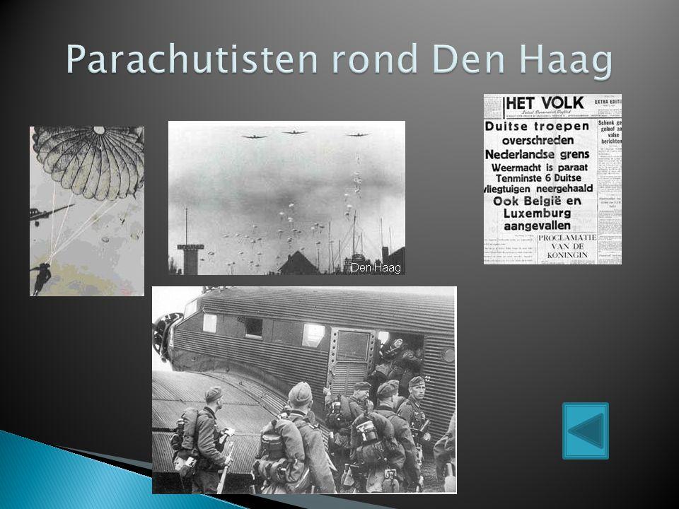 Parachutisten rond Den Haag