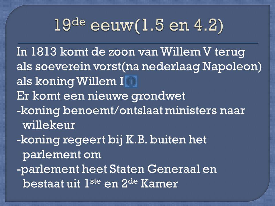 19de eeuw(1.5 en 4.2)