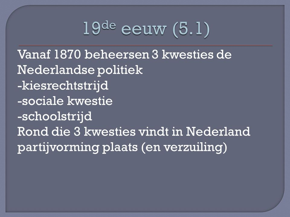19de eeuw (5.1)