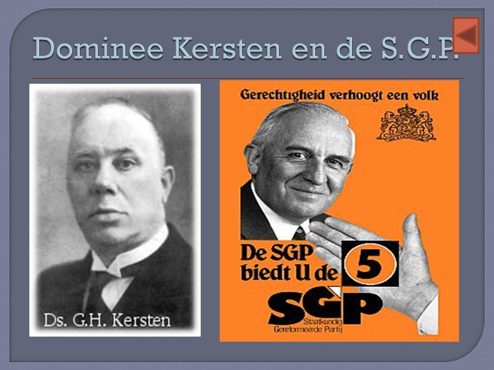 Dominee Kersten en de S.G.P.
