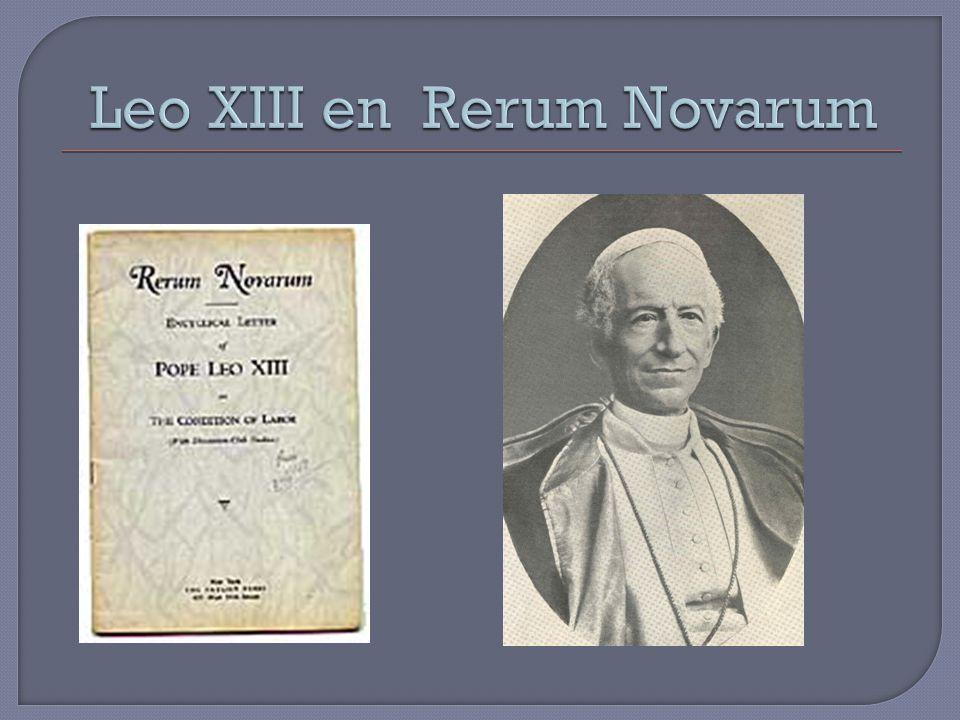 Leo XIII en Rerum Novarum