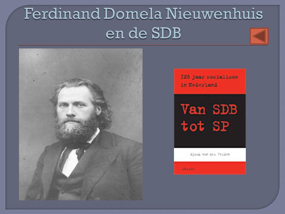 Ferdinand Domela Nieuwenhuis en de SDB