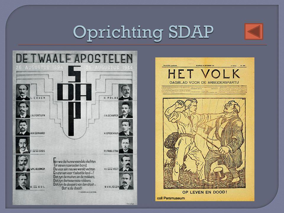 Oprichting SDAP
