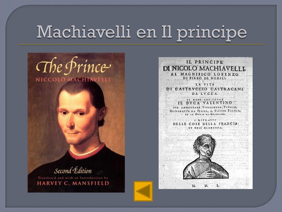 Machiavelli en Il principe