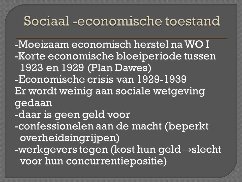 Sociaal -economische toestand