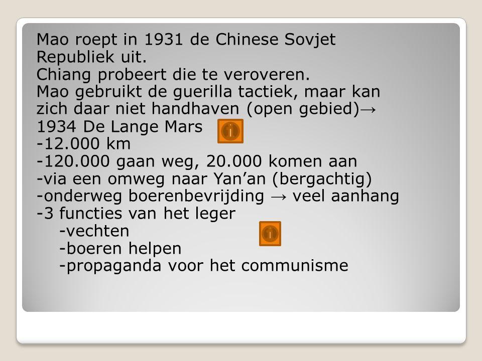Mao roept in 1931 de Chinese Sovjet Republiek uit