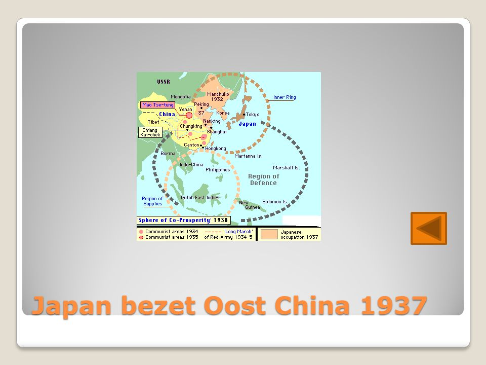 Japan bezet Oost China 1937