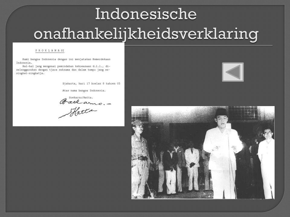 Indonesische onafhankelijkheidsverklaring
