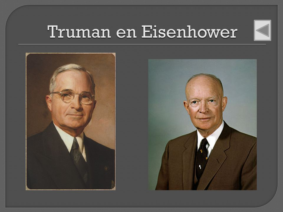 Truman en Eisenhower