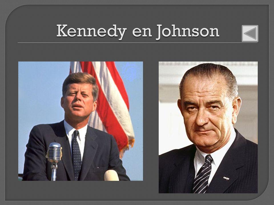 Kennedy en Johnson