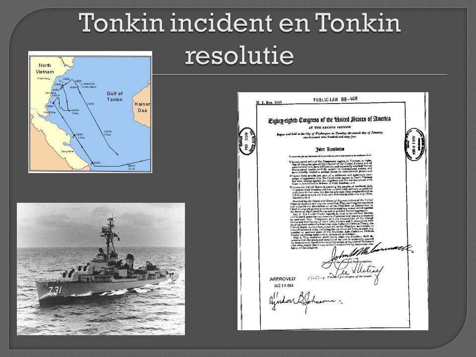 Tonkin incident en Tonkin resolutie