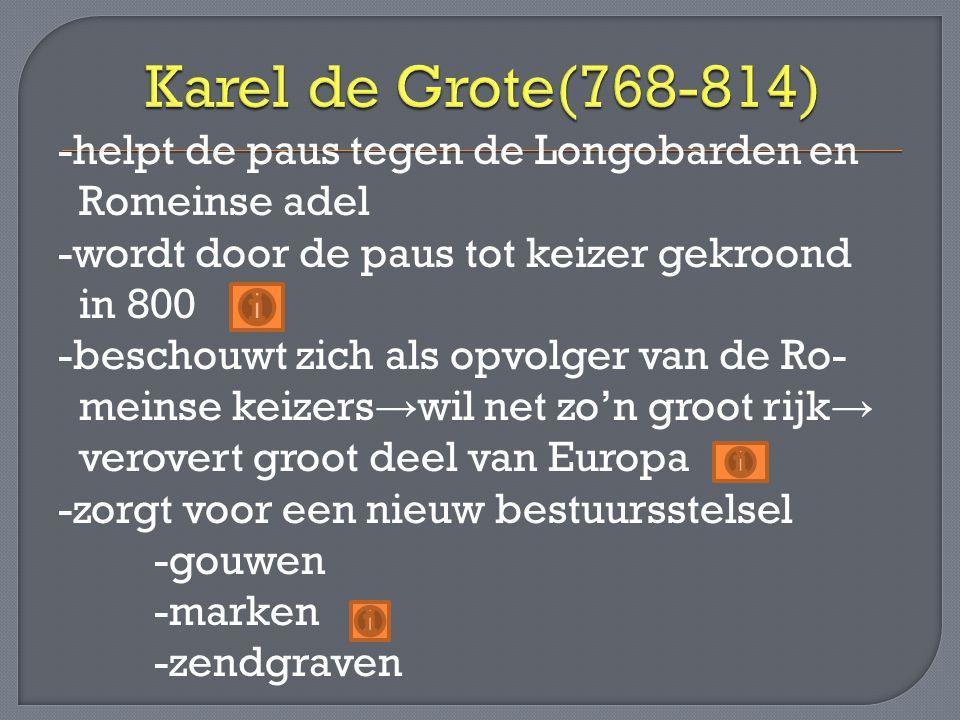 Karel de Grote(768-814)