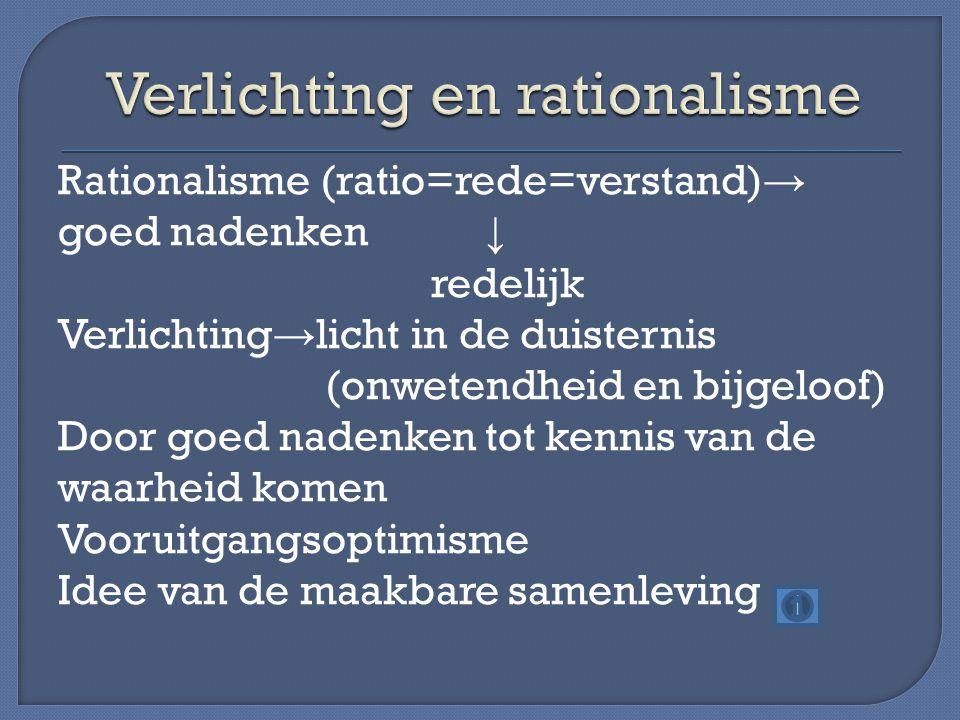 Verlichting en rationalisme