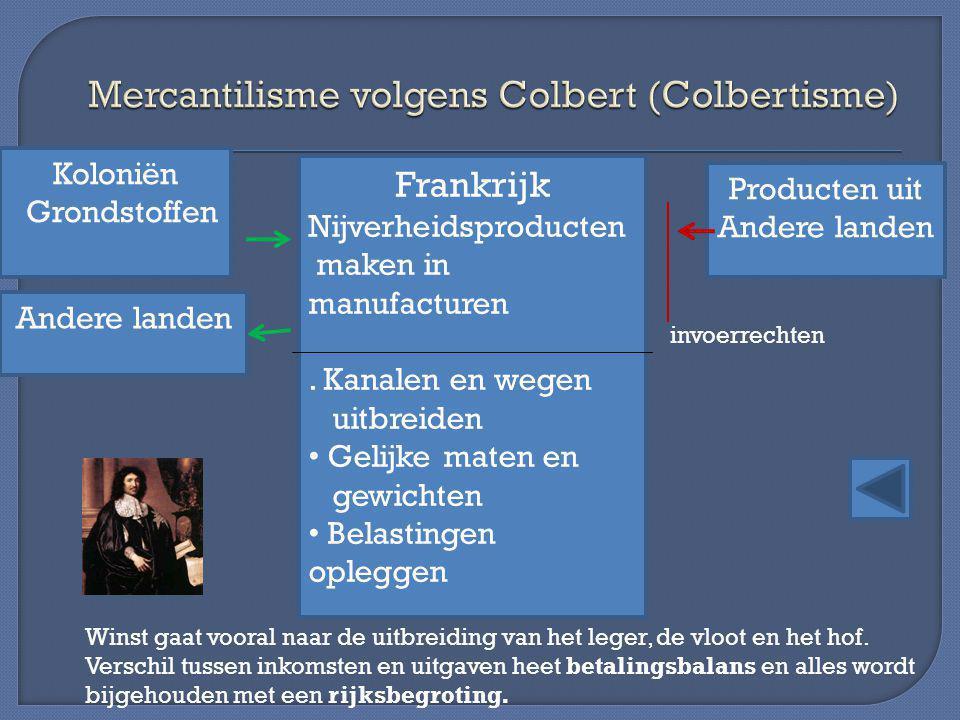 Mercantilisme volgens Colbert (Colbertisme)