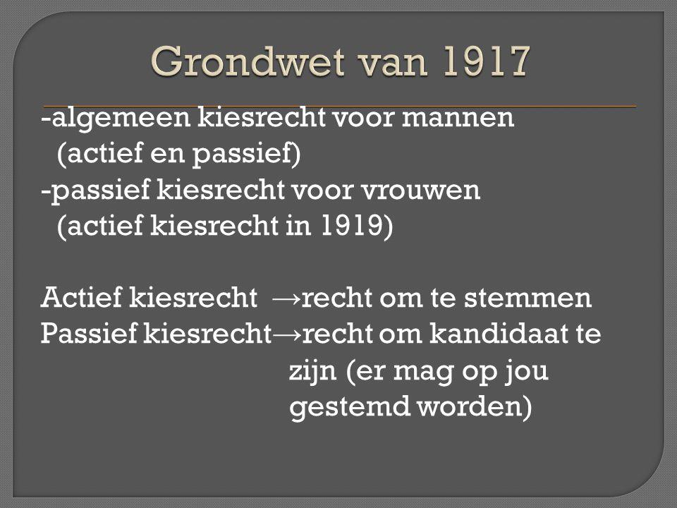 Grondwet van 1917