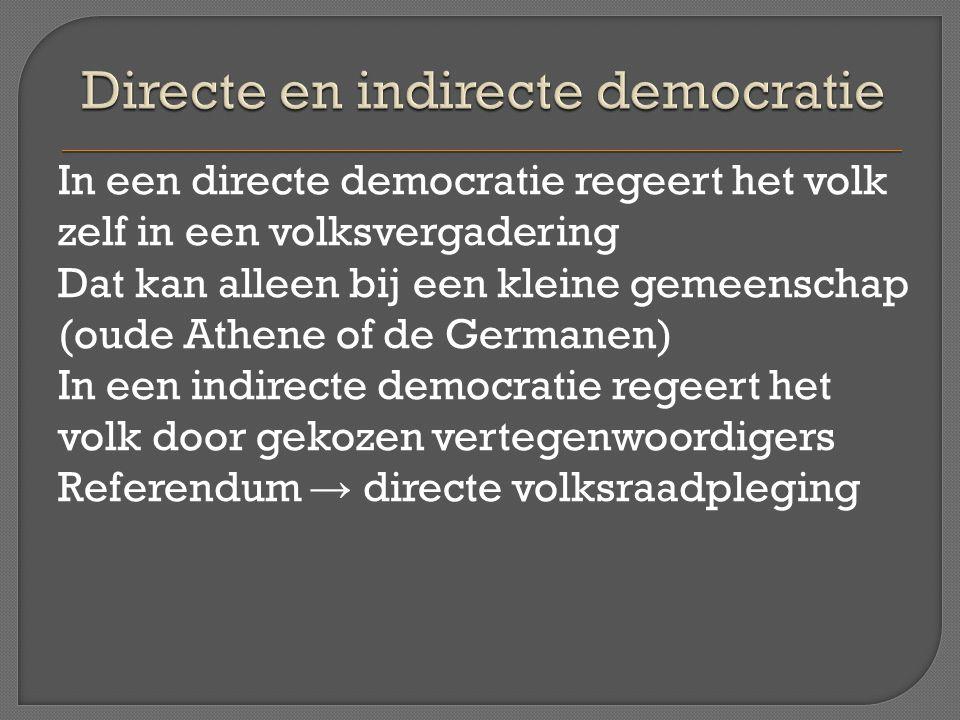 Directe en indirecte democratie
