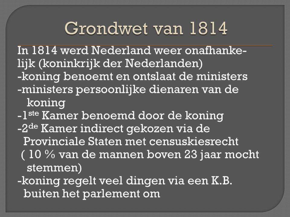Grondwet van 1814