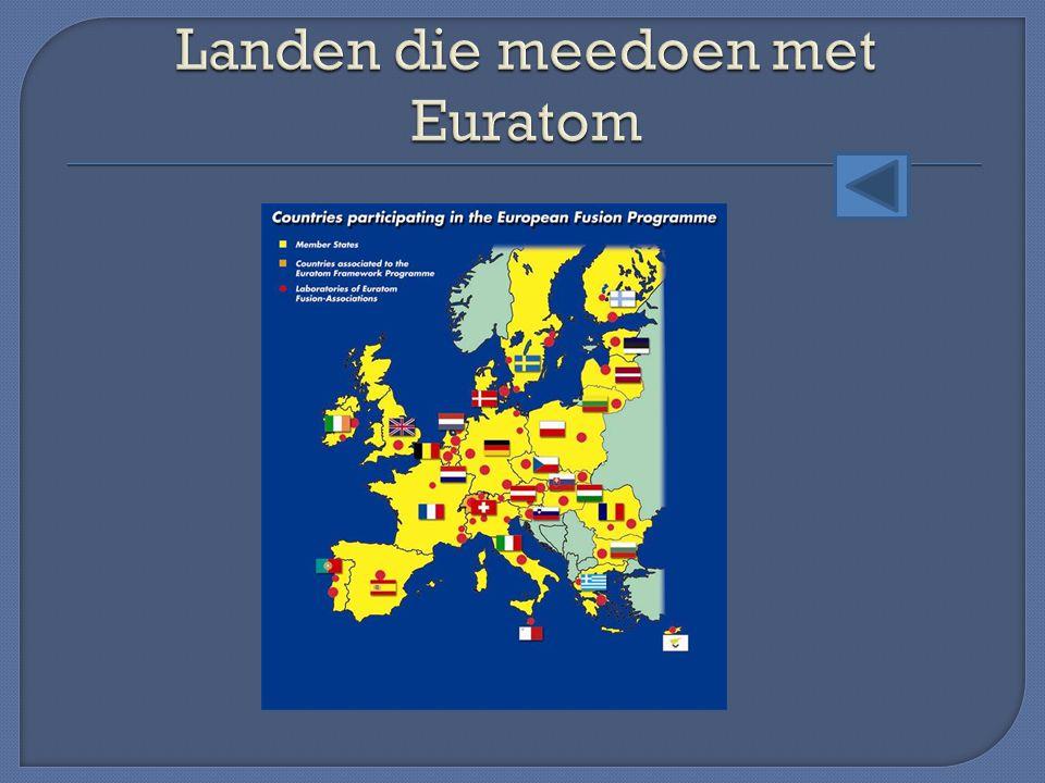 Landen die meedoen met Euratom