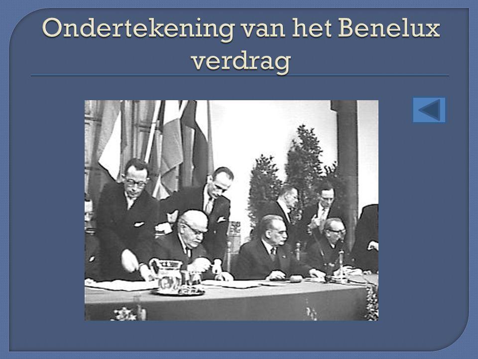 Ondertekening van het Benelux verdrag