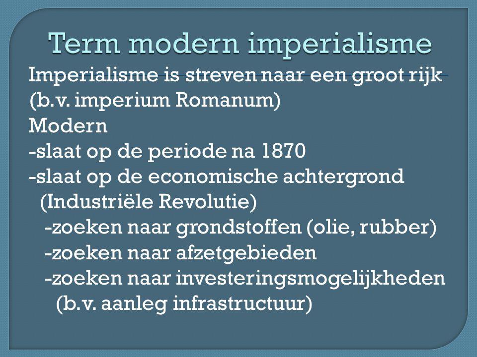 Term modern imperialisme