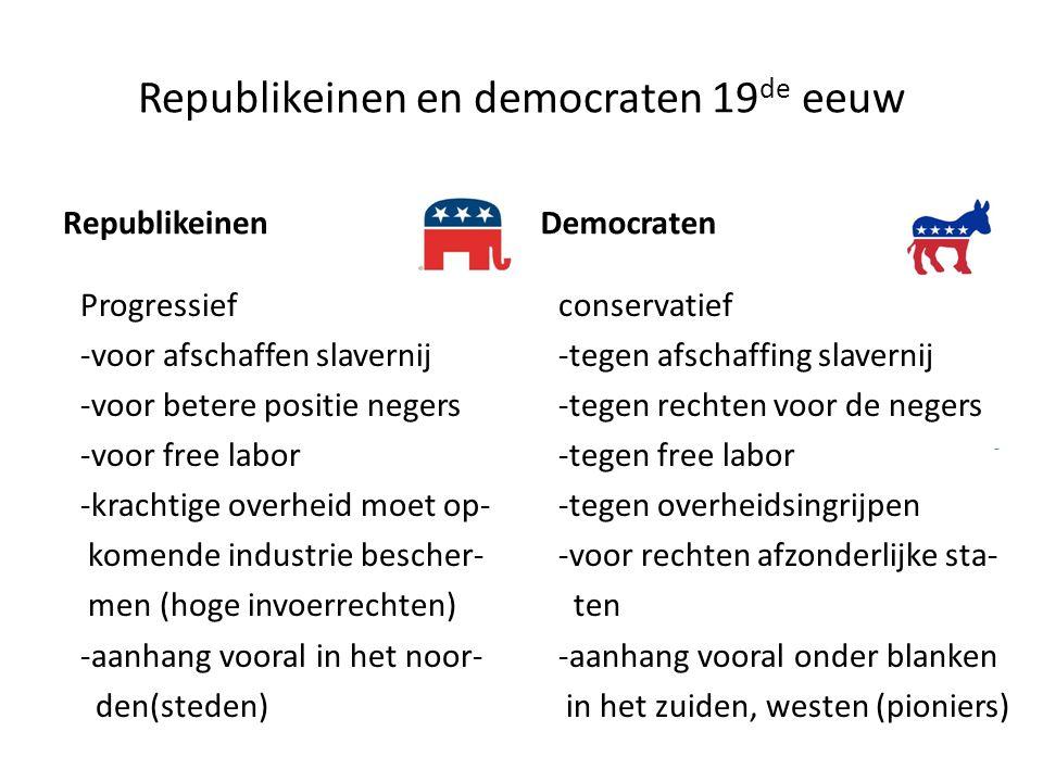 Republikeinen en democraten 19de eeuw