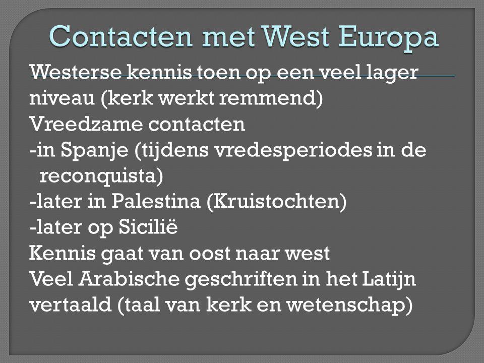 Contacten met West Europa