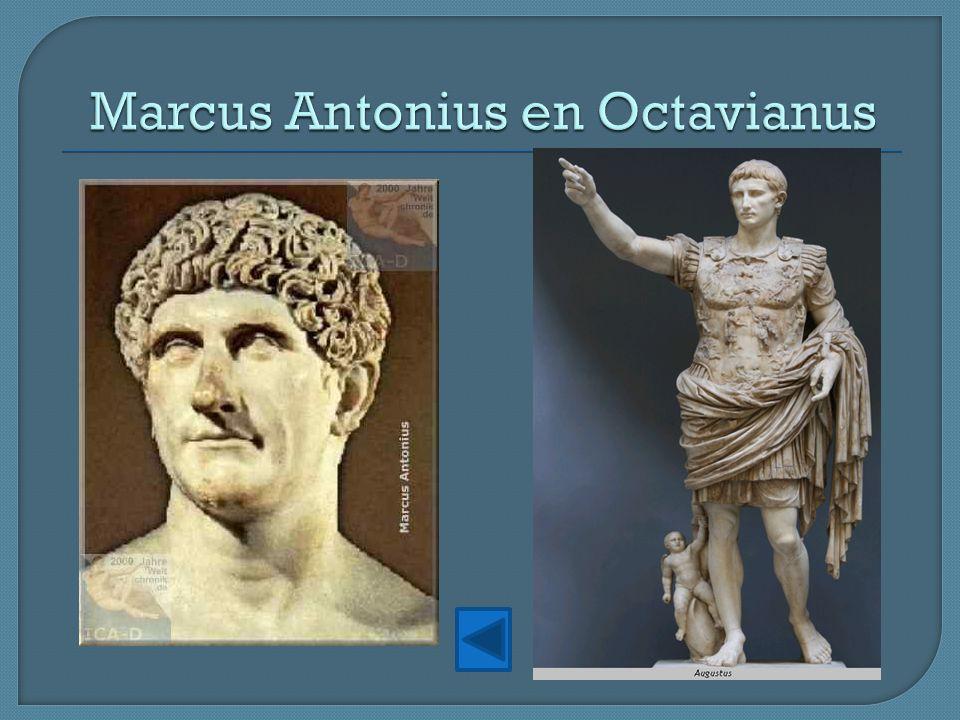 Marcus Antonius en Octavianus